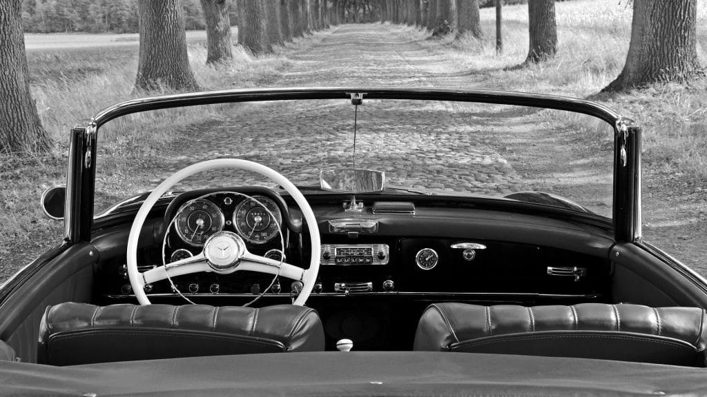 Mercedes 190SL dash