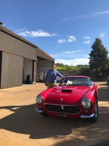 Iain with the Ferrari 250GT SWB during his visit to South Africa in 2018.